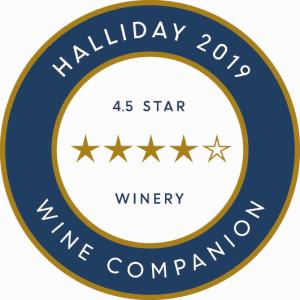 Halliday 2019 Wine Companion - 4.5 Star Winery
